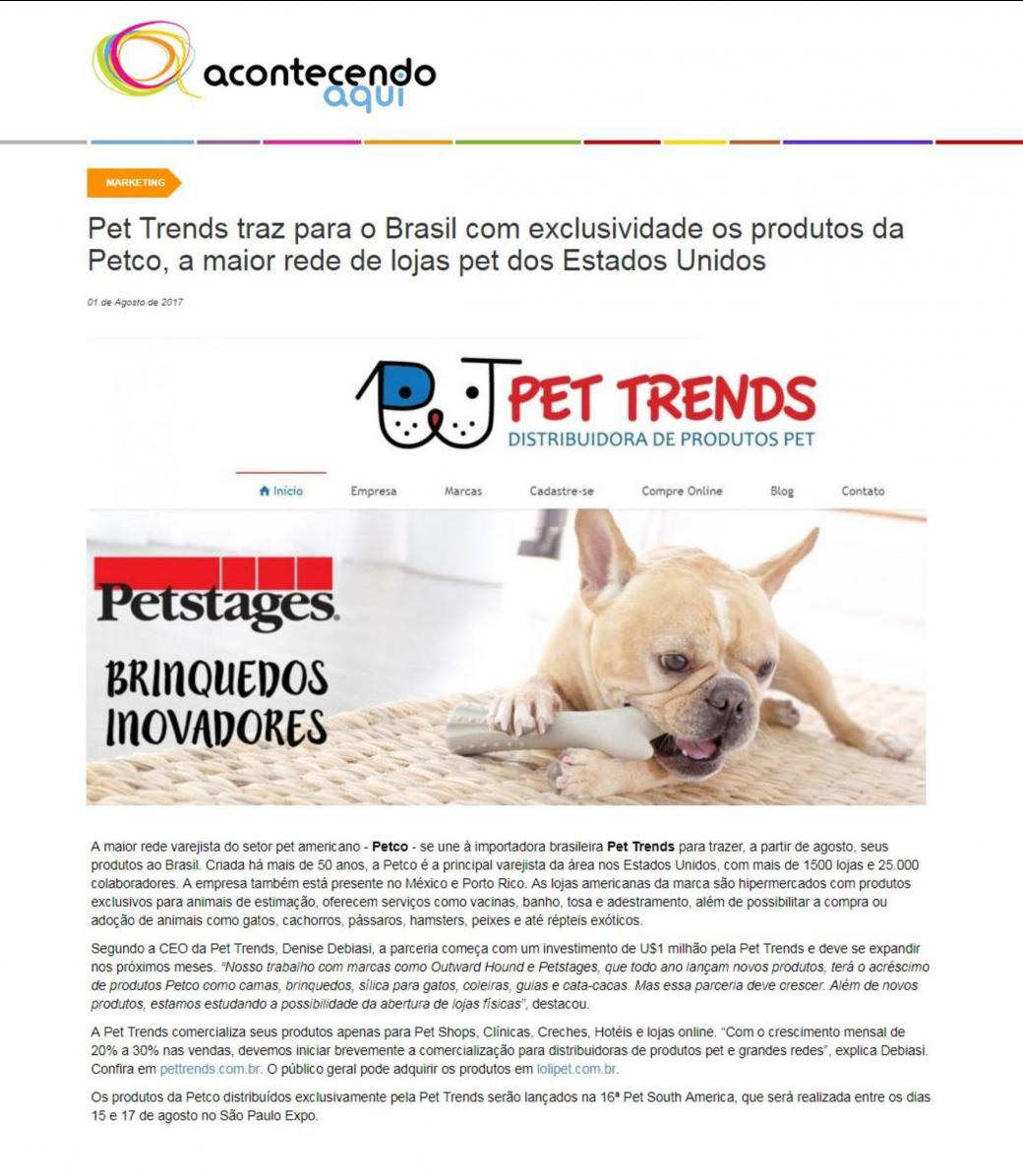 Acontecendo aqui falou sobre a chegada das marcas Petco ao Brasil