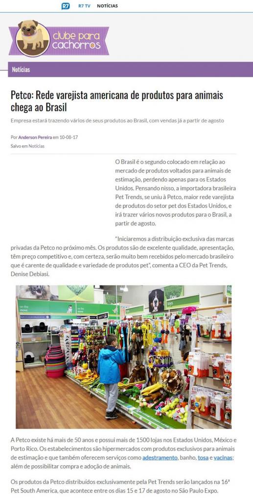 Clube para Cachorro fala sobre a chegada da Petco ao Brasil