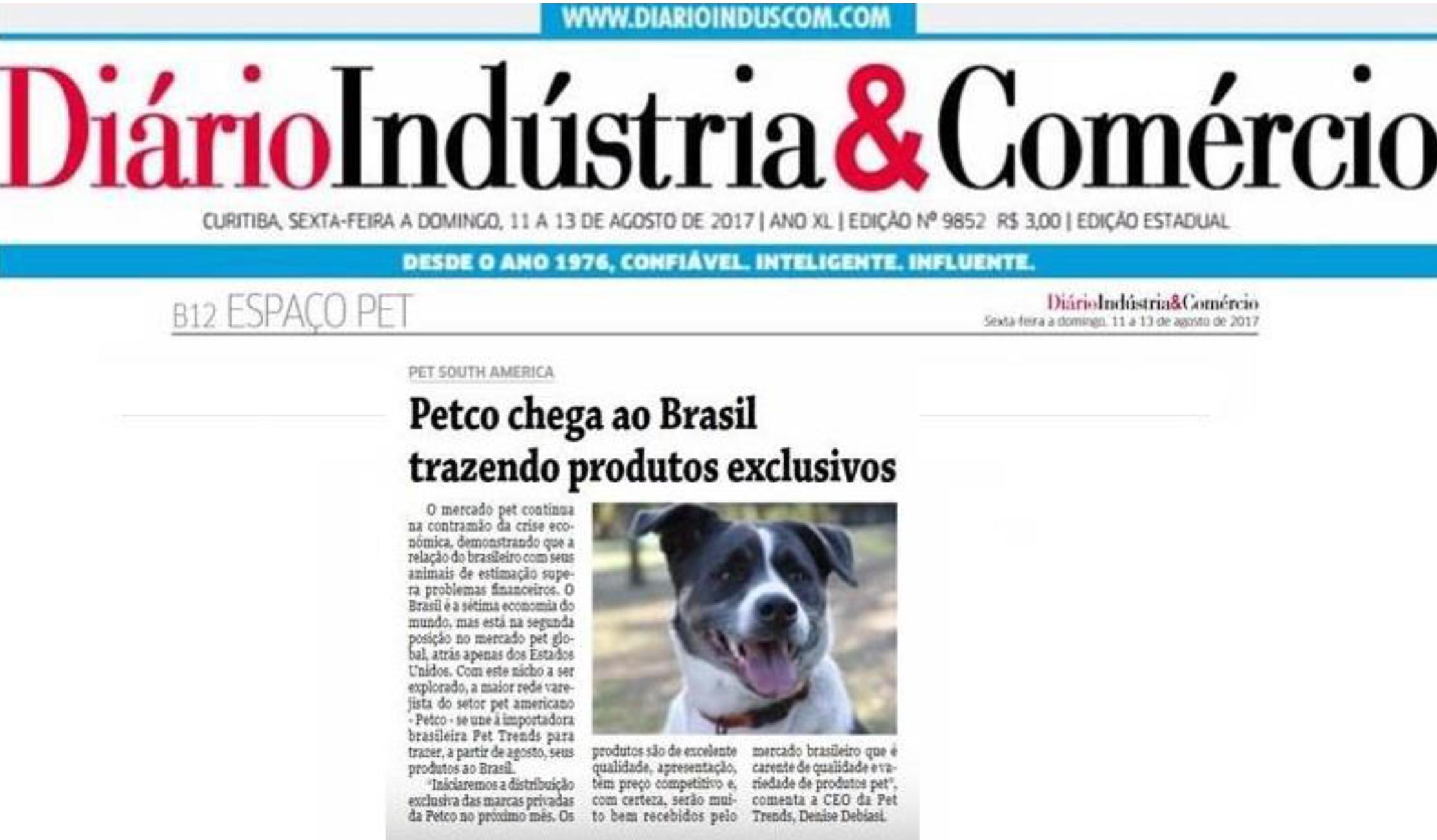 Matéria Jornal impresso Diário Indústria e Comércio