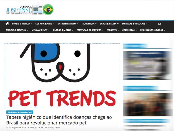 Saiu na mídia, matéria sobre Pet Trends no Jornal Joseense