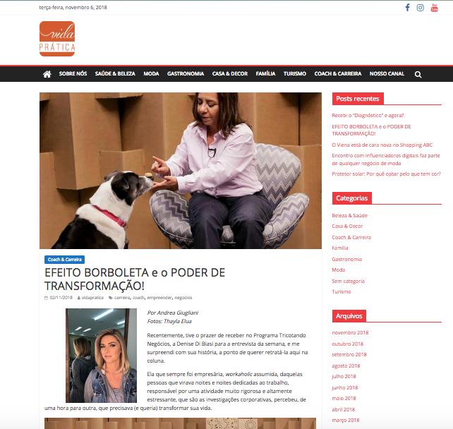 Artigo no Blog da Revista Casa Prática sobre a Pet Trends!