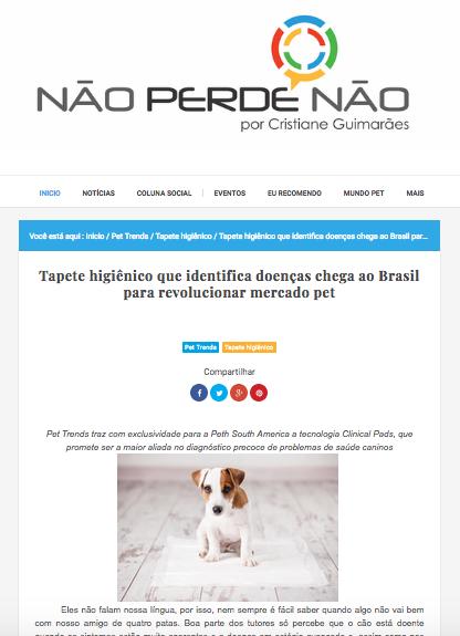 Matéria sobre a Pet Trends no Blog Não Perde Não